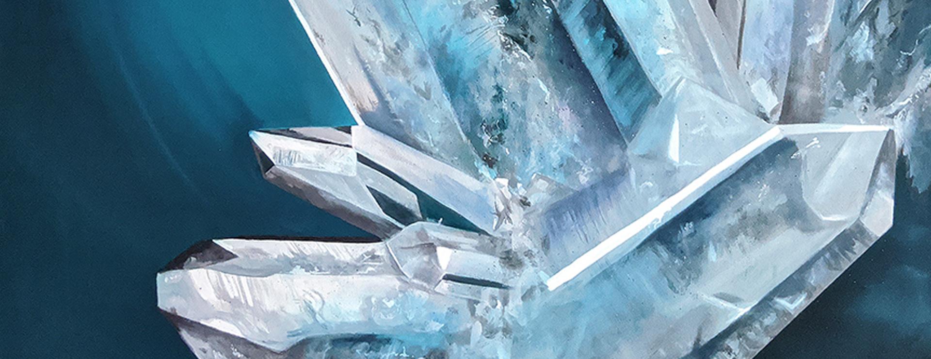 Aqua crystal cluster